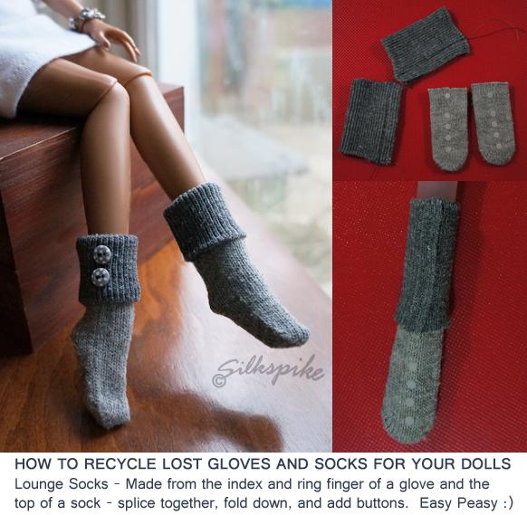 Как сделать носки куклам